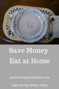 eat at home and save money