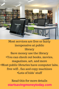 Save money use the library