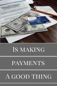 is making payments
