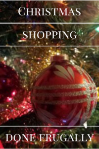 Christmas shopping frugal