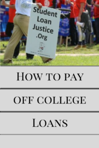 how to pay off college loans